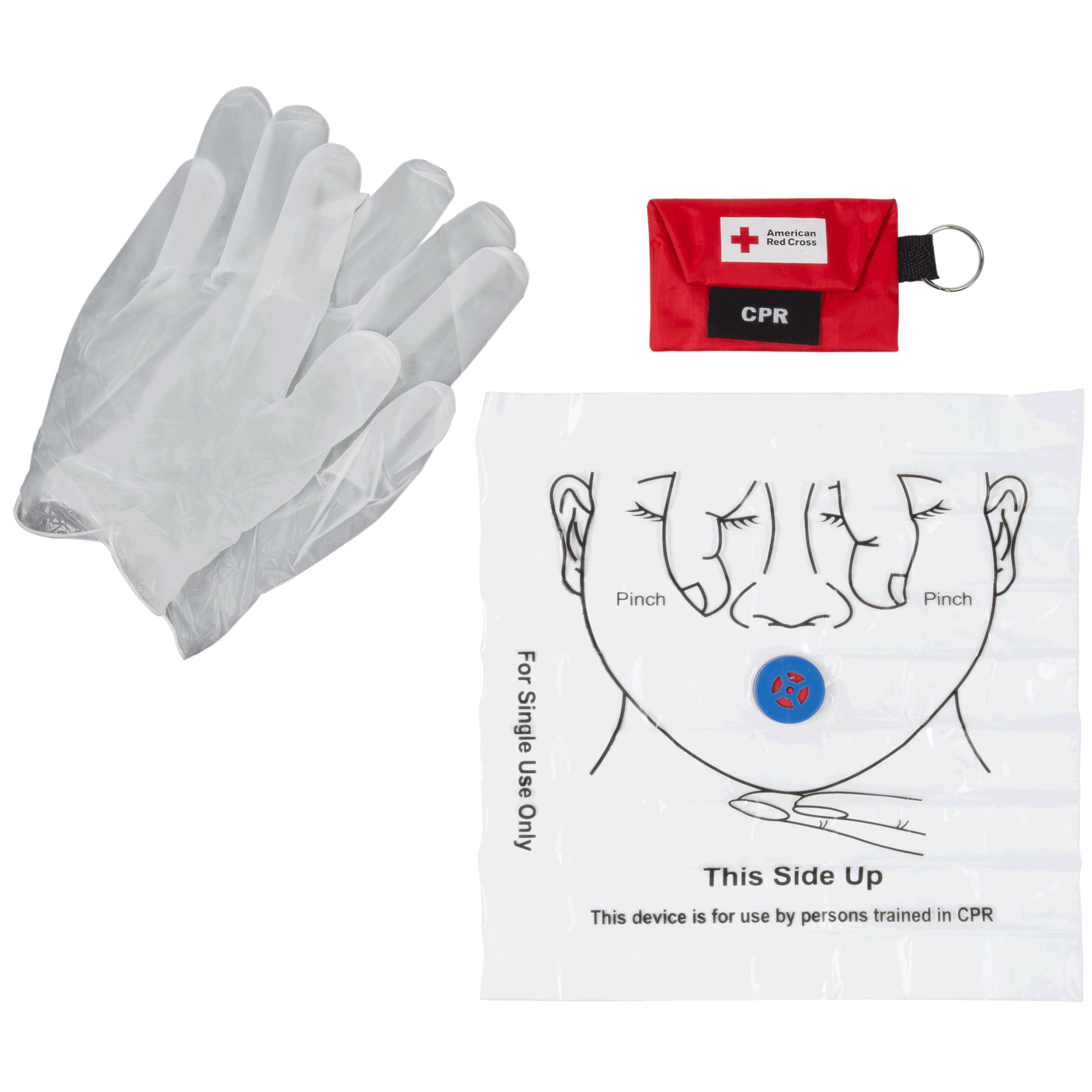 Cpr first aid medical training supplies red cross store cpr keychain with face shield and gloves 1betcityfo Image collections