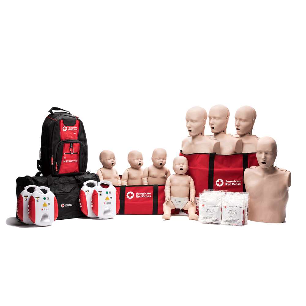 Instructor Starter Package With Cpr Monitor And New Aed Red Cross
