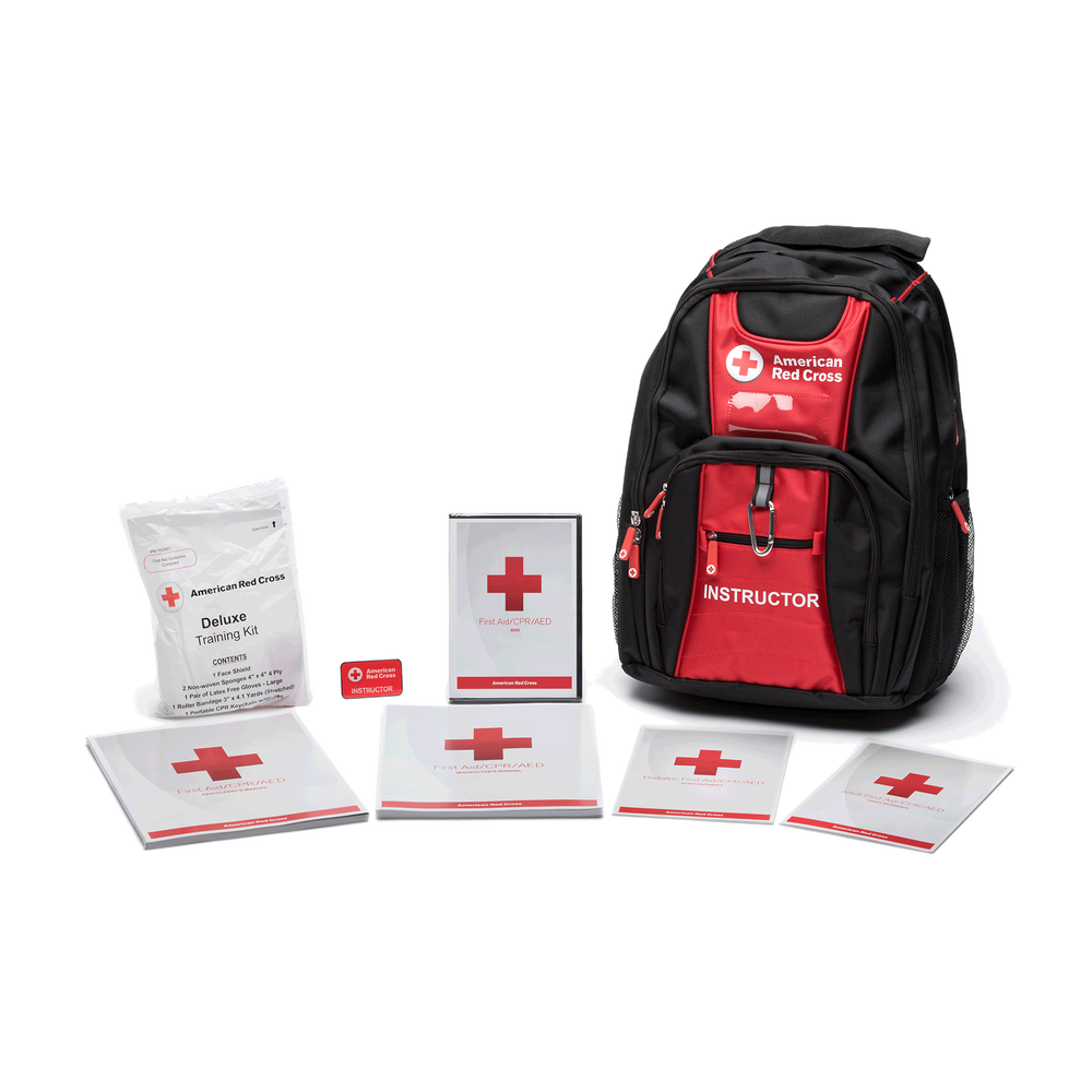 First Aidcpraed Deluxe Instructors Kit With Backpack Red Cross Store